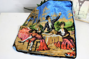 Vintage 1970s Velvet Tapestry Pillowcase