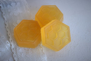 """The Bees Knees"" Handmade Honey Glycerin Soap Scented with Honeysuckle"
