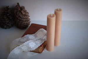 """The Bees Knees"" Handmade Beeswax Candle"