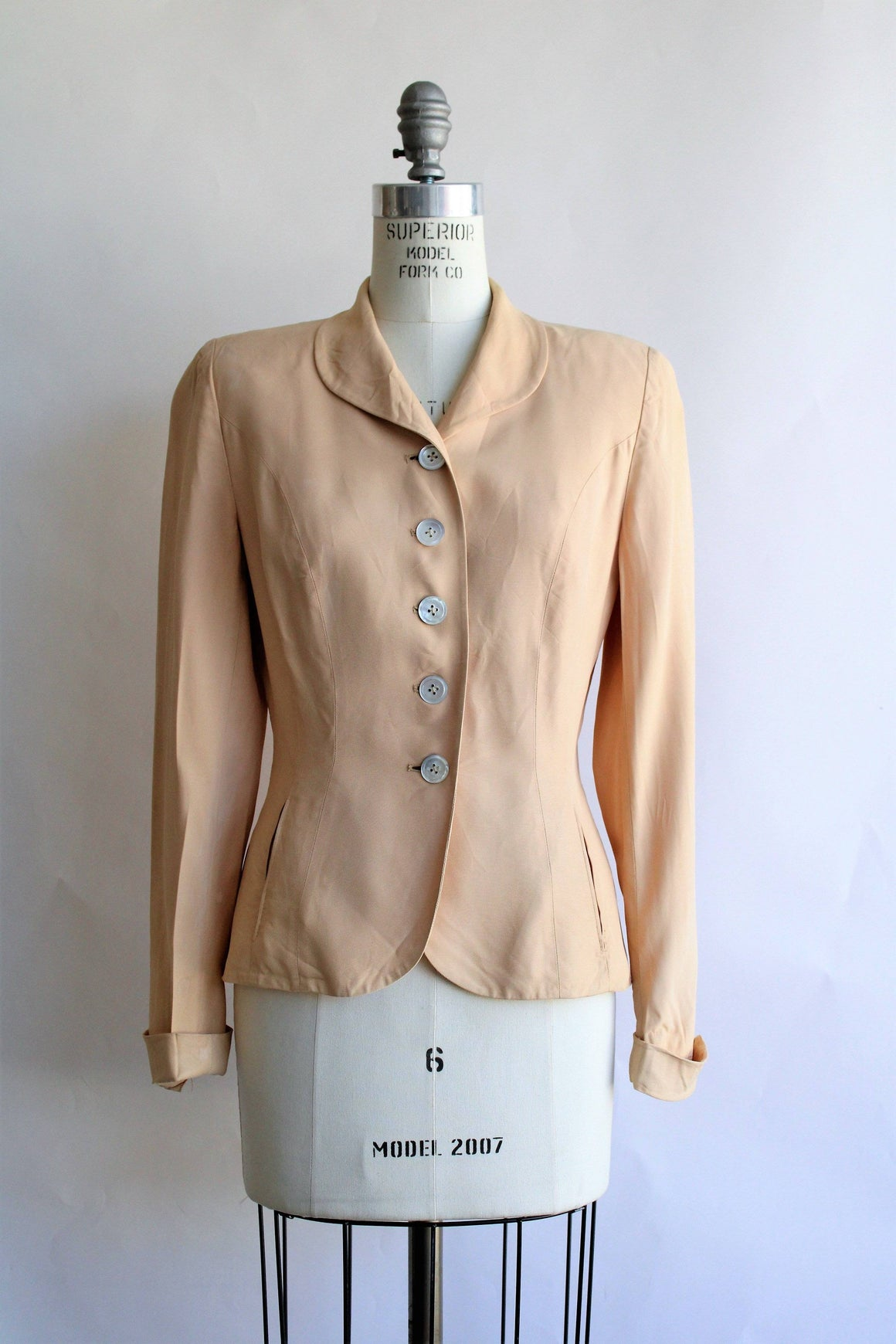 Vintage 1940s Camel Tailored Jacket, Weathervane by Handmacher