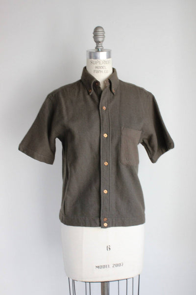 Vintage 1940s Wool Blouse From World War Two