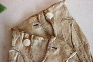 Vintage Ivory Kid Leather Gloves