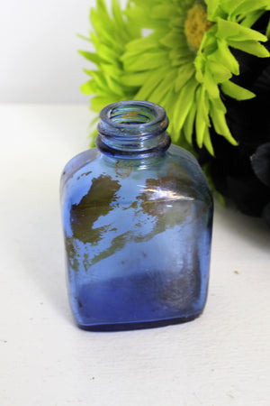 Vintage Cobalt Blue Glass Bottle