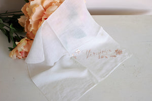 Vintage Handkerchief With Embroidered Virginia