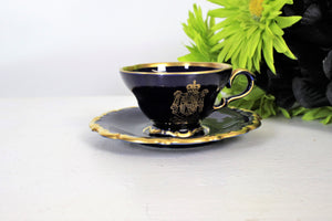Vintage 1940s Demitasse Cup And Saucer by Lindner Keups Bavaria