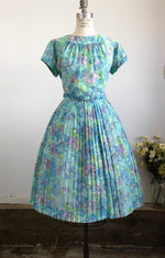 Vintage 1950s Dress With Belt by Mode O Day