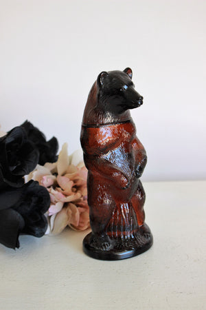 Vintage 1980s Avon Deep Woods Aftershave in the Bear Bottle