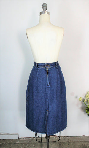 Vintage 1980s Denim Skirt By Kmart