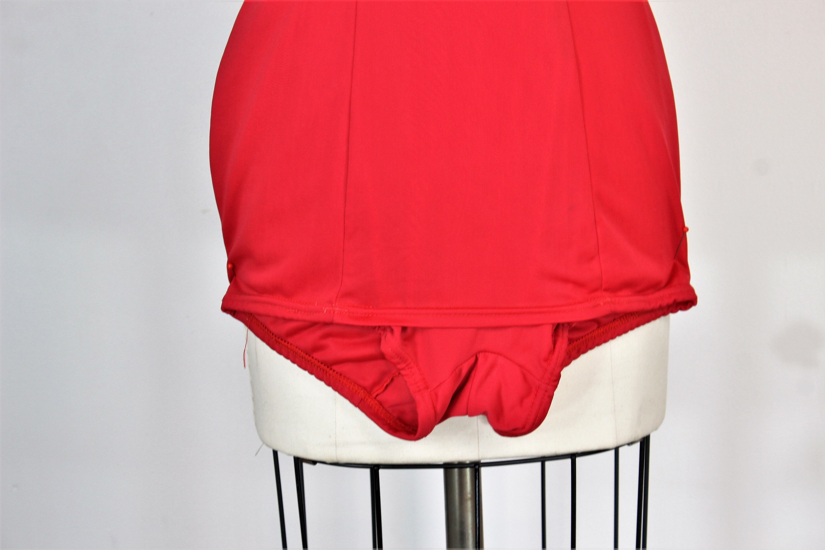 Vintage 1960s Red Swimsuit by Aldrich & Aldrich