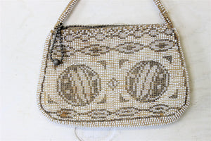 Vintage 1930s  Beaded Clutch Purse Made In Czechoslovakia