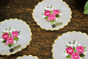 Vintage Cotton Alba Coasters Or Doilies, Set of Six
