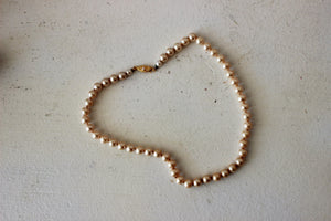 Vintage 1950s Faux Pearl Necklace