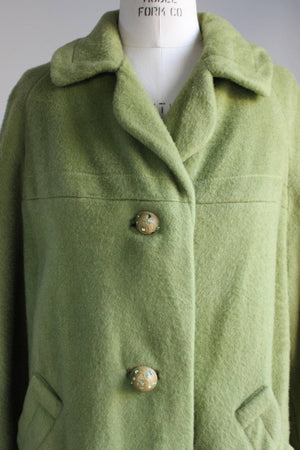 Vintage 1950s Green Mohair Coat