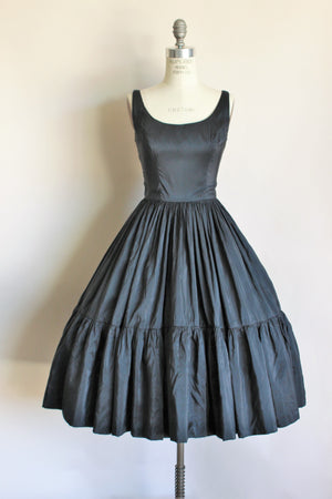 Vintage 1950s Black Ballerina Dress