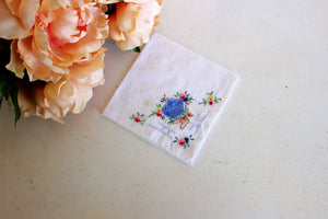 Vintage Embroidered Cotton Hanky