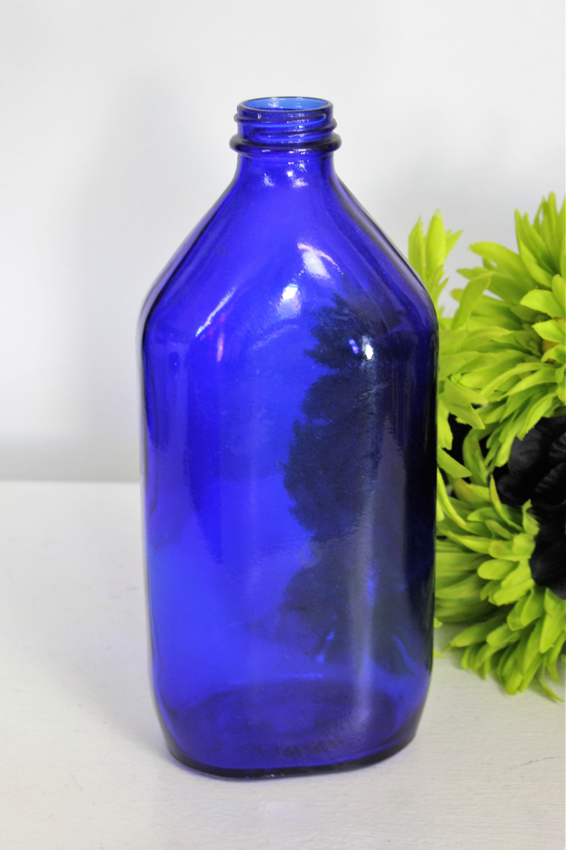 Vintage Cobalt Blue Glass Bottle of Phillips Milk of Magnesia