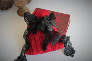 """Winter Witch"" Scented Sachet In Red and Black"