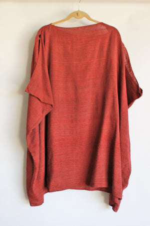 Vintage 1940s Roman Style Tunic in Red