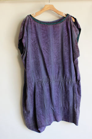 Vintage Hollywood Film Costume Roman Style Tunic in Purple Velour
