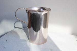 Vintage 1960s Metal Pitcher, Flamingo By Nasco Made In Italy