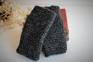 "The ""Evening Storm"" Handknit Fingerless Gloves"