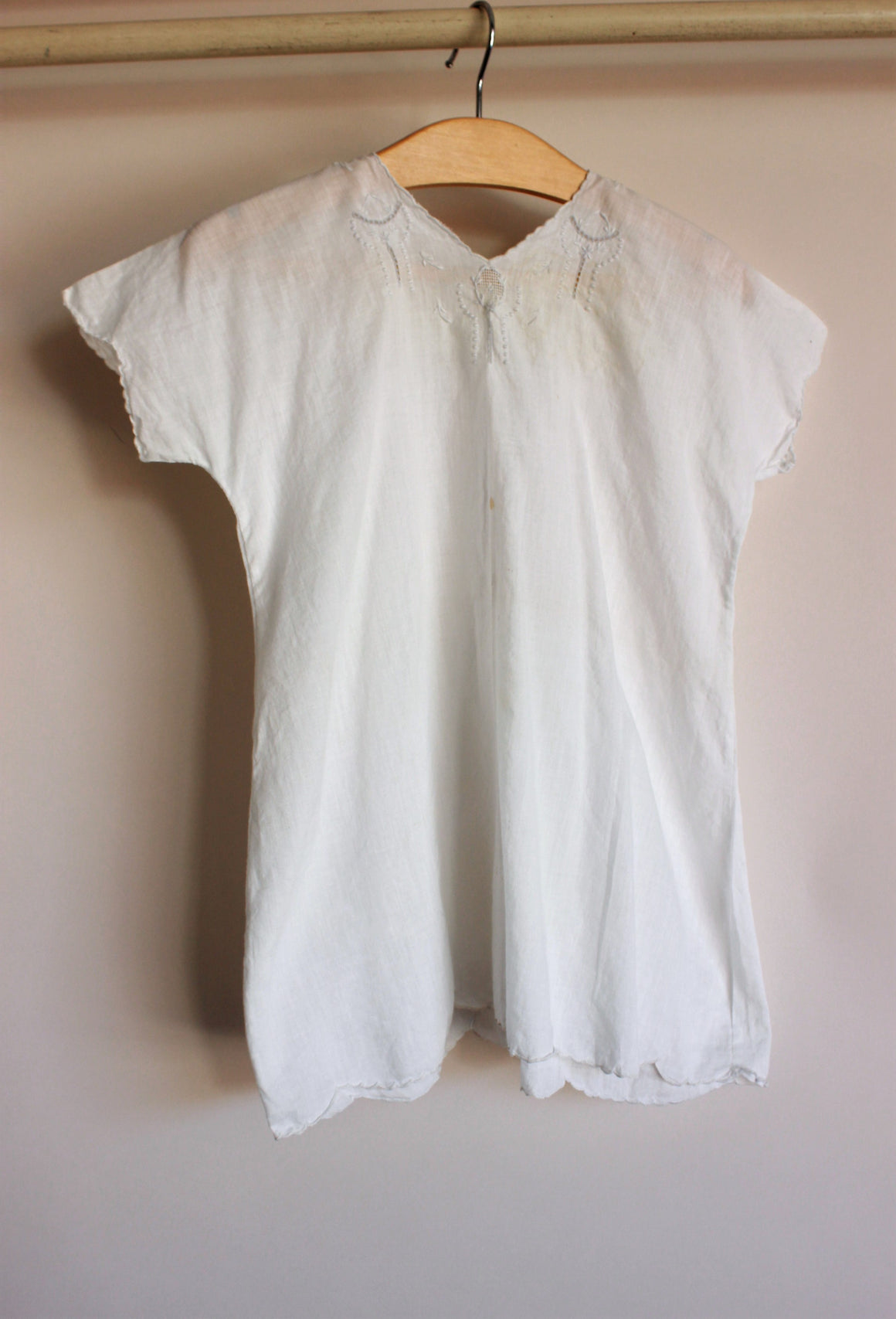 Antique White Cotton Baby Dress