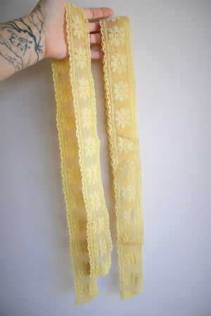 Naturally Plant Dyed Yellow Vintage Lace