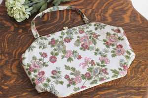 Vintage 1950s Floral Brocade Sir David D & B New York HandBag