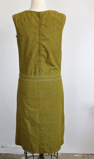 Vintage 1960s Mod Dress Romper With Pockets And Belt