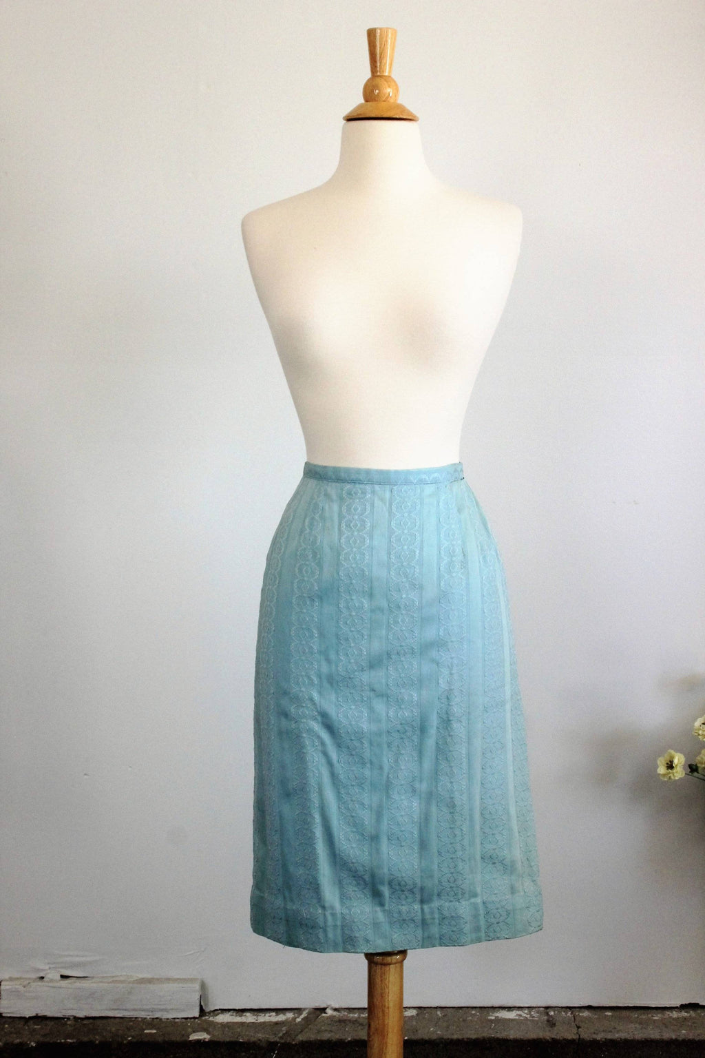 CLEARANCE: Vintage 1950s Blue Pencil Wiggle Skirt by Ardee of California