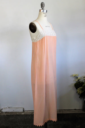 Vintage 1920s Blush Silk Nightgown