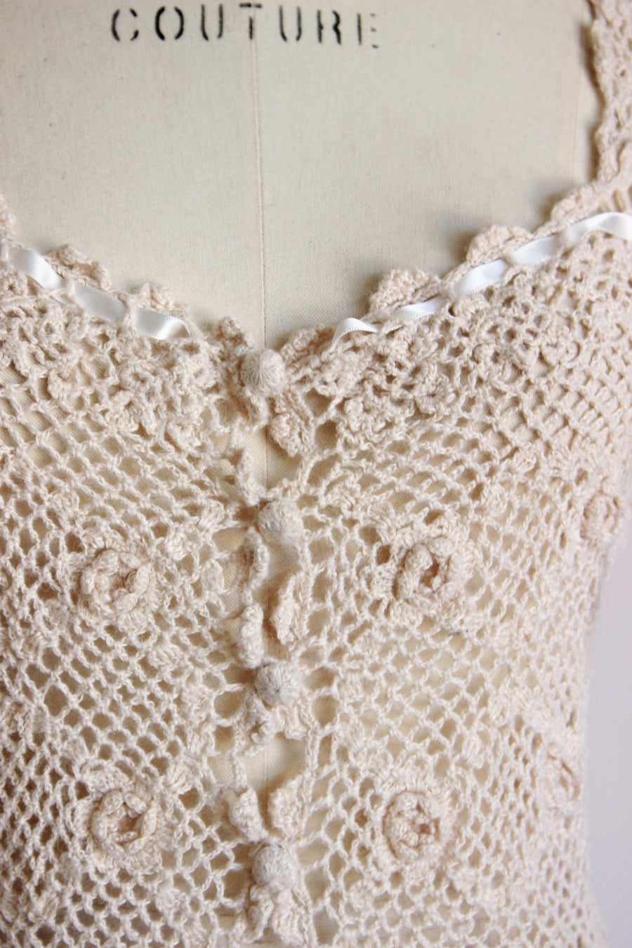 Vintage 1990s Crochet Betsey Johnson Top