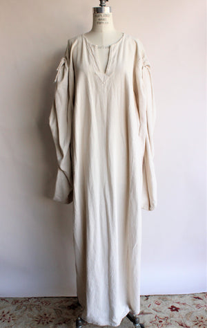 Vintage 1990s Custom Made Irish Leine ( shift dress)