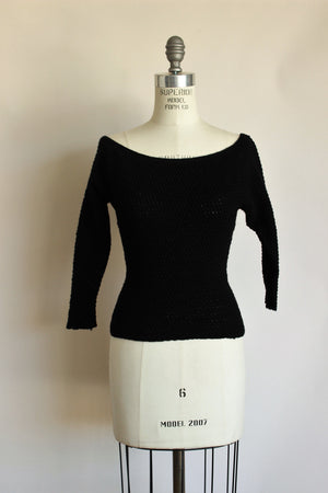 Vintage 1960s Black Sweater by Goldworm