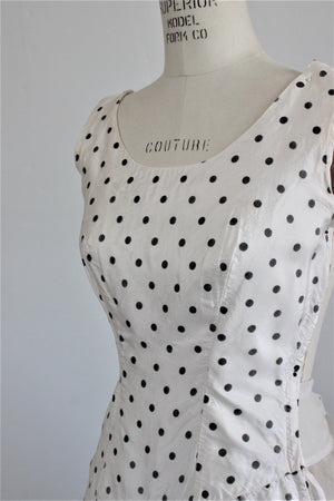 CLEARANCE: Vintage 1950s Polkadot Dress