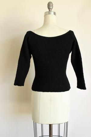 Vintage 1960s Black Sweater by Goldworm'