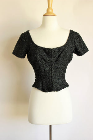 Antique Edwardian Short Corset Style Blouse