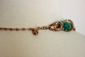 Vintage 1960s Trifari Malachite Necklace