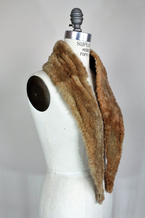 Vintage 1920s Faux Fur Collar