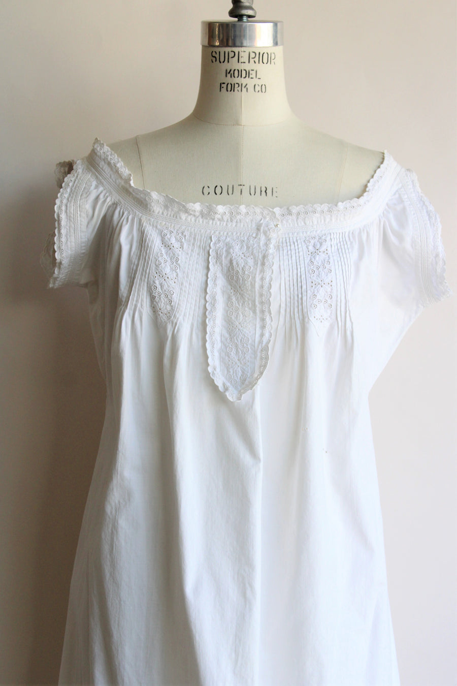 Antique White Cotton Nightgown
