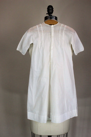 Vintage 1910s  White Cotton Baby Christening Gown