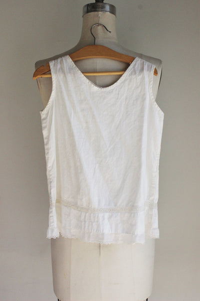 Vintage 1920s 1930s Girls White Cotton Dress