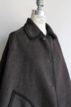 Vintage 1970s Reversible Wool Cape by Beniffa