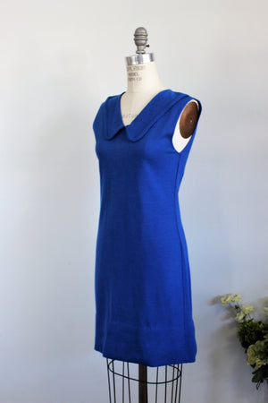 Vintage 1960s Blue Mod Dress