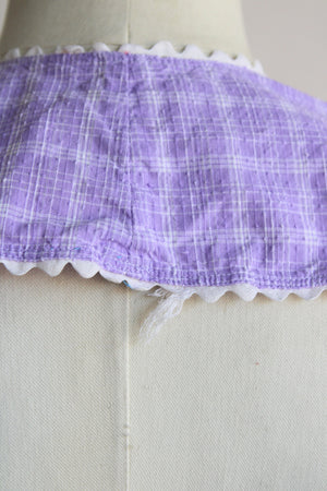 Vintage 1960s Purple Check Full Apron
