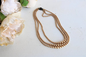 Vintage 1930s 1940s Faux Pearl Necklace