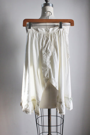 Vintage Edwardian Drawers Bloomers / Victorian Cotton Pettipants