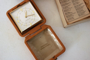 Vintage 1960s Westclox Travette Alarm Clock, New in Box