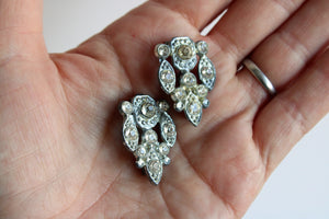Vintage 1930s 1940s Rhinestone Dress Clip Embellishments