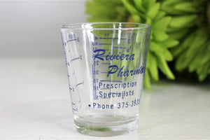 Vintage 1960s Medicine Shot Glass
